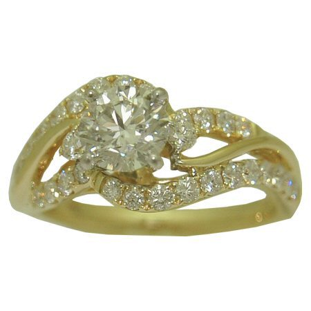 Gold In Art 1.72 cttw diamond engagement ring