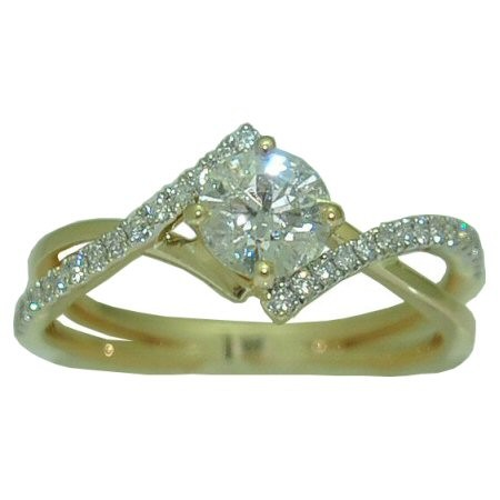 Gold In Art Diamond Engagement Ring