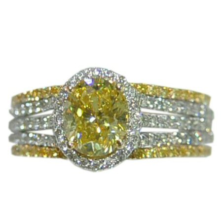 Gold In Art Yellow Diamond Engagement Ring