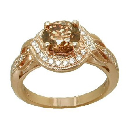 Gold In Art diamond ring in 14 karat rose gold