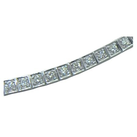 Gold In Art diamond tennis bracelet