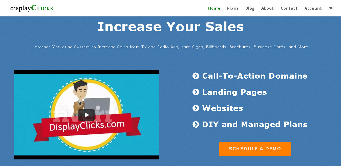 displayClicks | Call-To-Action Domains, Landing Pages, Websites