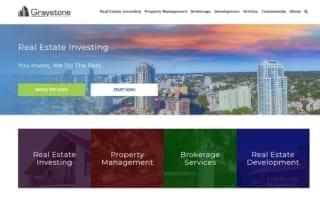 Website screenshot, real estate company in Tampa, FL