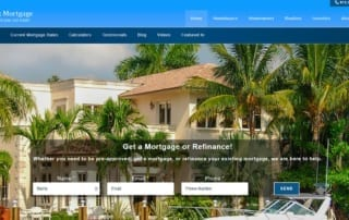 Website screenshot, mortgage broker in Tampa, FL