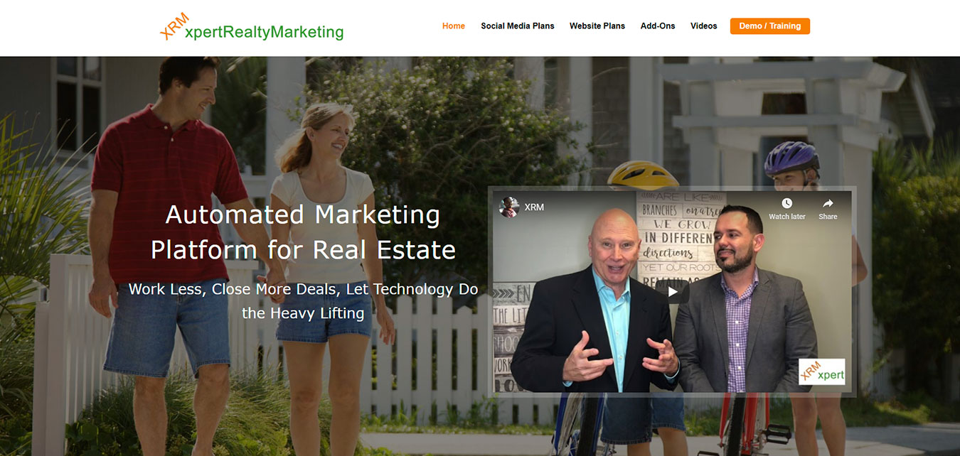 xpertRealtyMarketing.com screenshot, real estate marketing division of Image Building Media