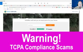 Warning! TCPA Compliance Scam
