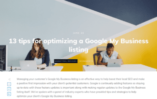 13 tips for optimizing a Google My Business listing